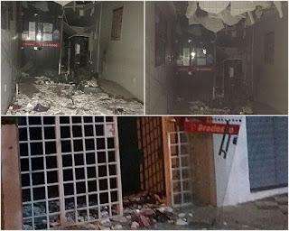 Bandidos explodem agência bancária no Sertão da Paraíba