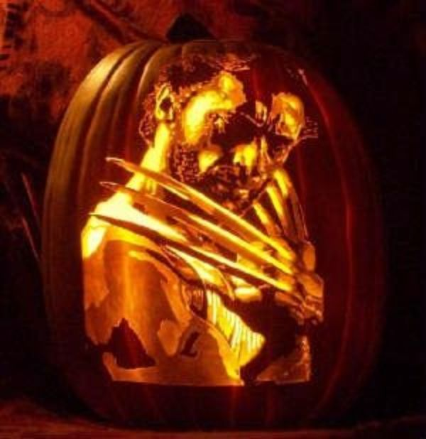 Cool Pumpkin carving - Wolvereen