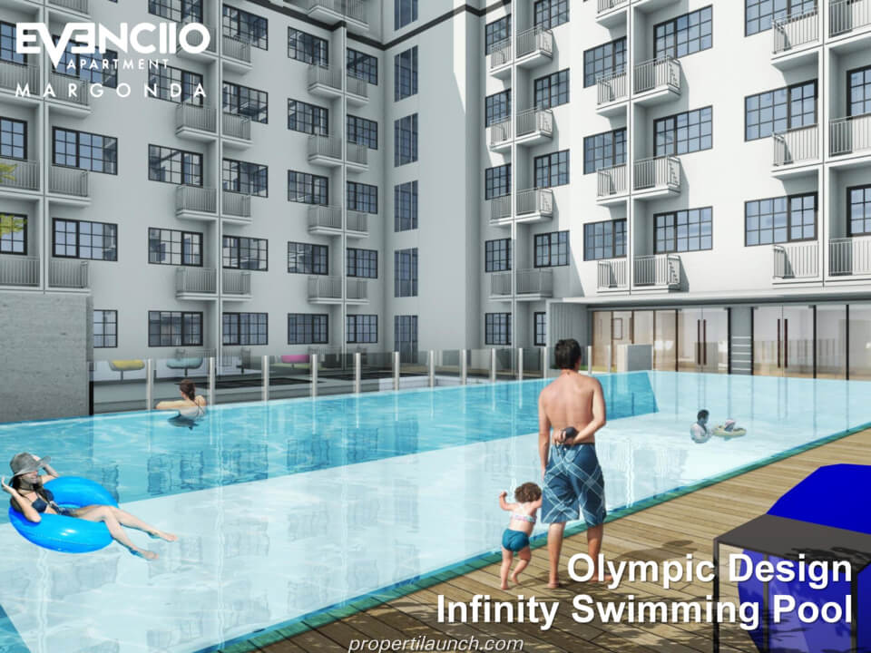 Evenciio Margonda Apartment Swimming Pool