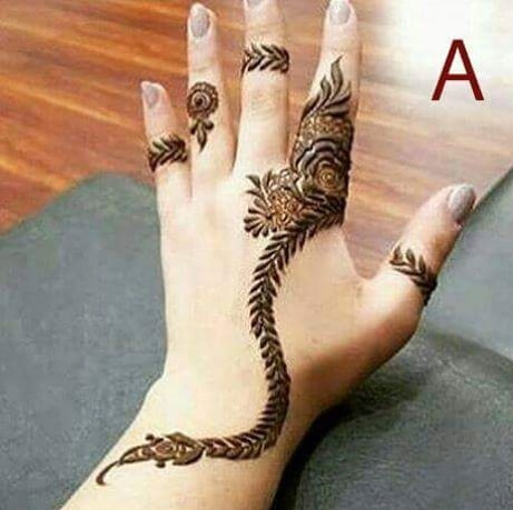 show the arabic mehndi designs