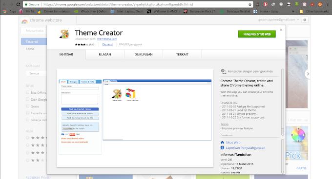 Cara Menyesuaikan Theme Browser Google Chrome dengan Theme Creator