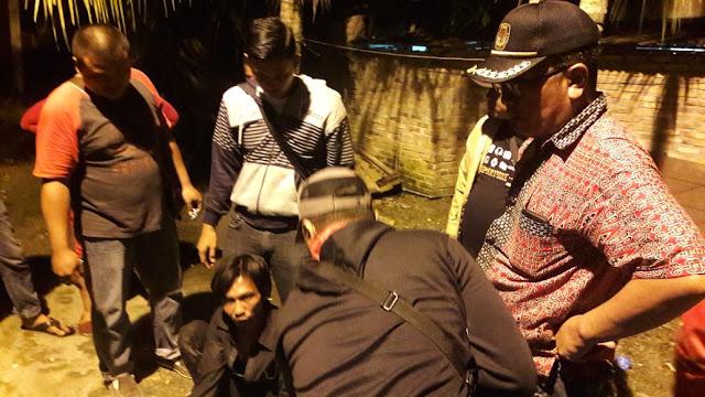 Polisi saat meringkus tersangka kuris narkoba di Asahan.