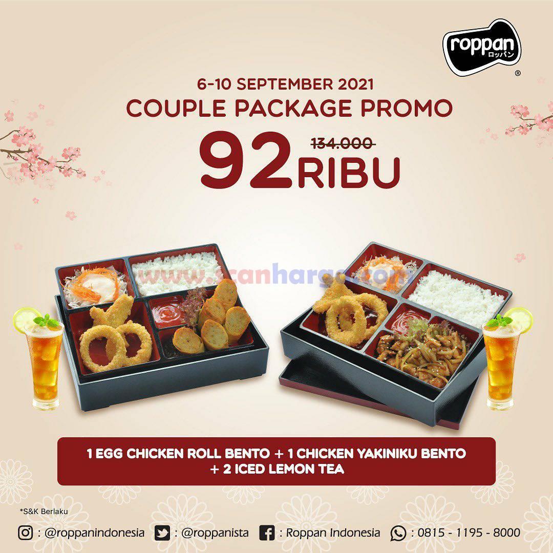 ROPPAN Promo Paket COUPLE BENTO harga cuma Rp. 92.000