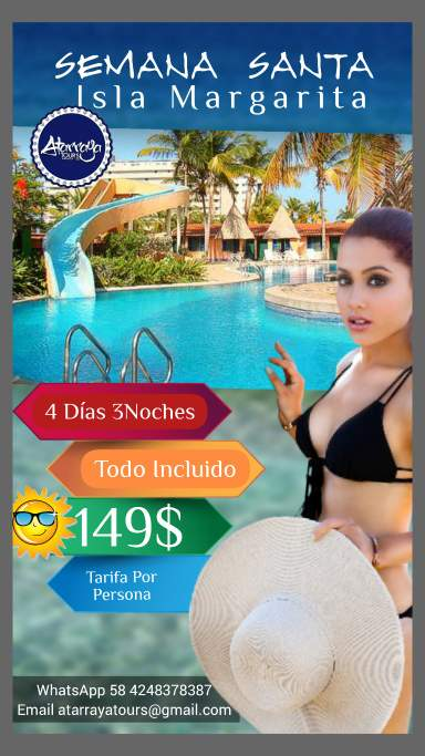 Isla Margarita - Venezuela - Super plan de alojamiento Semana Santa 2021