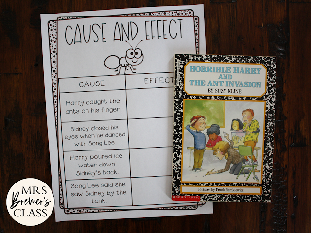 Horrible Harry and the Ant Invasion book study literacy unit with Common Core aligned companion activities 1st grade 2nd grade