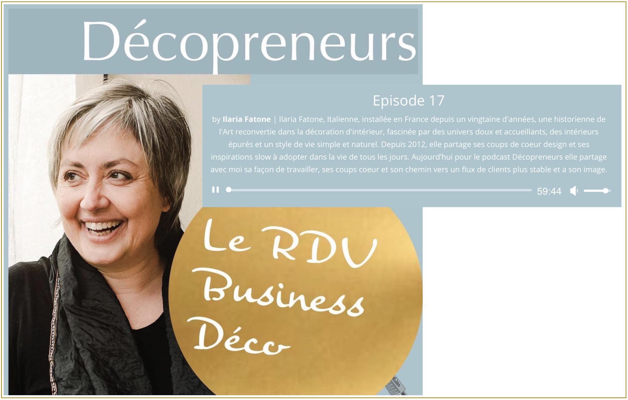 ilaria fatone - presse - decopreneur podcast