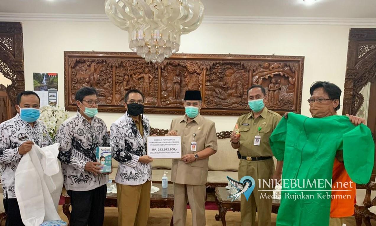 PGRI Kebumen Sumbang Rp 212,5 Juta untuk Penanganan Covid-19
