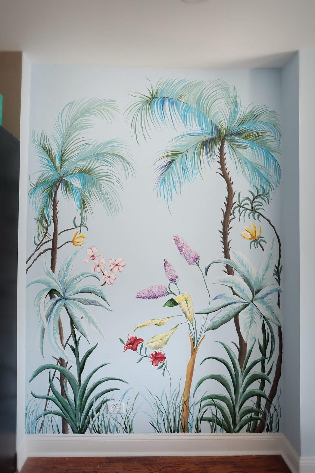 Hand Painted Wall Mural Flipping The Flip