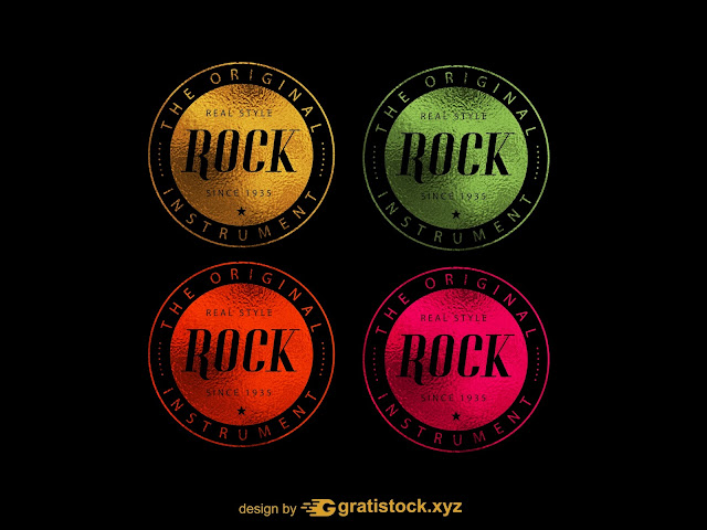 Free Download PSD File Logos Light Effects Rock Style.