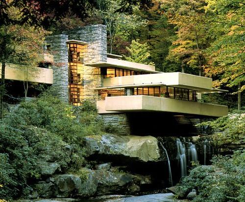 casa sulla cascata-Wright-architettura organica