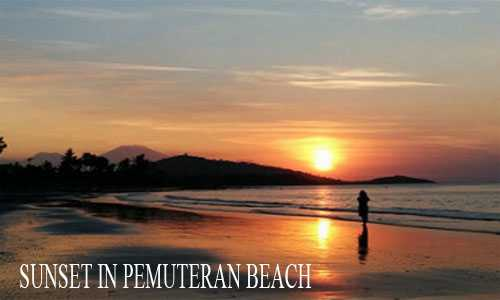 sunset in pemuteran beach