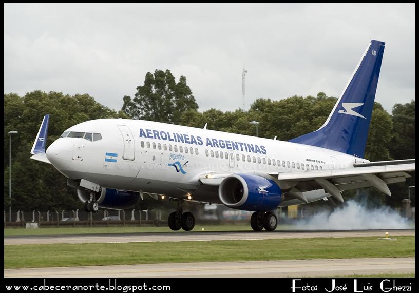 Resultado de imagen para boeing 737-700 aerolineas argentinas