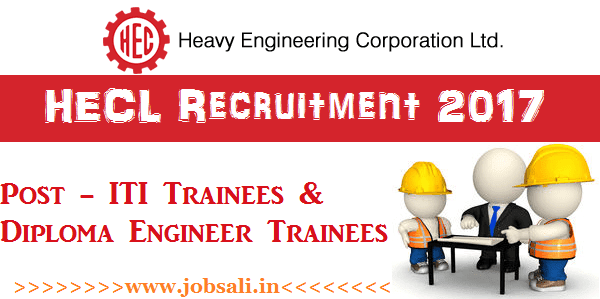 HECL Careers, diploma trainee jobs 2017, iti jobs in jharkhand