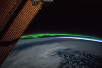 Aurora over Pacific Ocean seen from the International Space Station