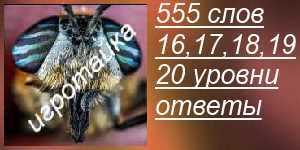555 слов все ответы на 16, 17, 18, 19, 20 в картинках