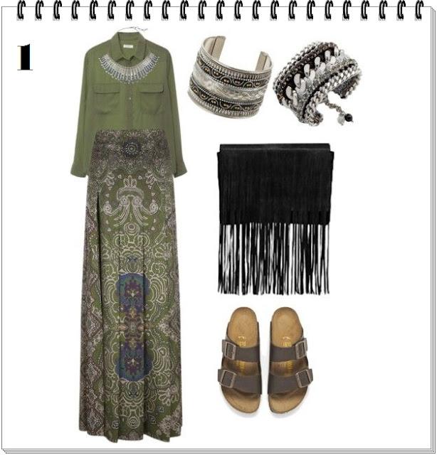 Outfits maxifalda india