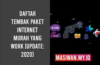 Daftar Tembak Paket Internet Murah yang Work [Update: 2020]