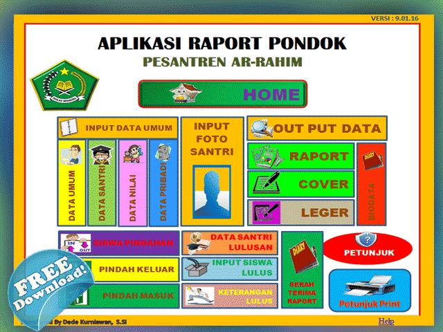 Aplikasi Raport Pondok Pesantren Ar-Rahim Lengkap dengan Kelulusan Siswa