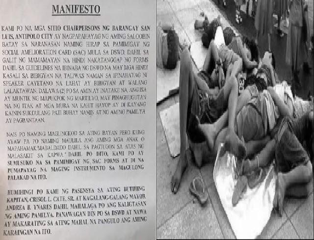 Opisyal ng San Luis Antipolo Sinugod ng ilang residente ng Martilyo at Itak
