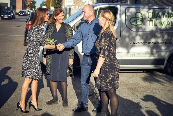 Princess Marie wore TARA JARMON clover print dress. The Danish Food Bank is a nonprofit organisation