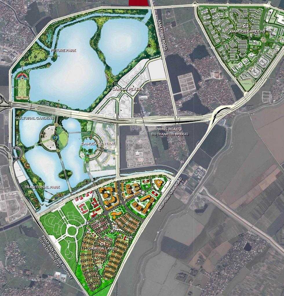 Quy hoạch Khu Đô Thị Gamuda City
