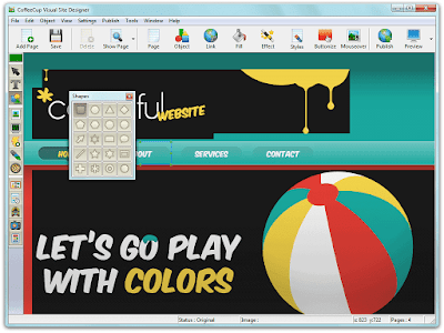 برنامج CoffeeCup Visual Site Designer
