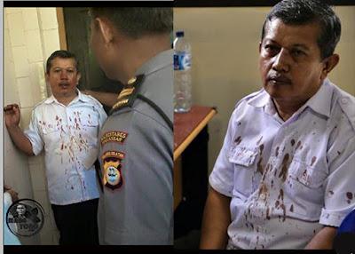 ASTAGA!!.. Guru SMK 2 Makassar Sampai Berdarah-darah Dianiaya Orang Tua Siswa