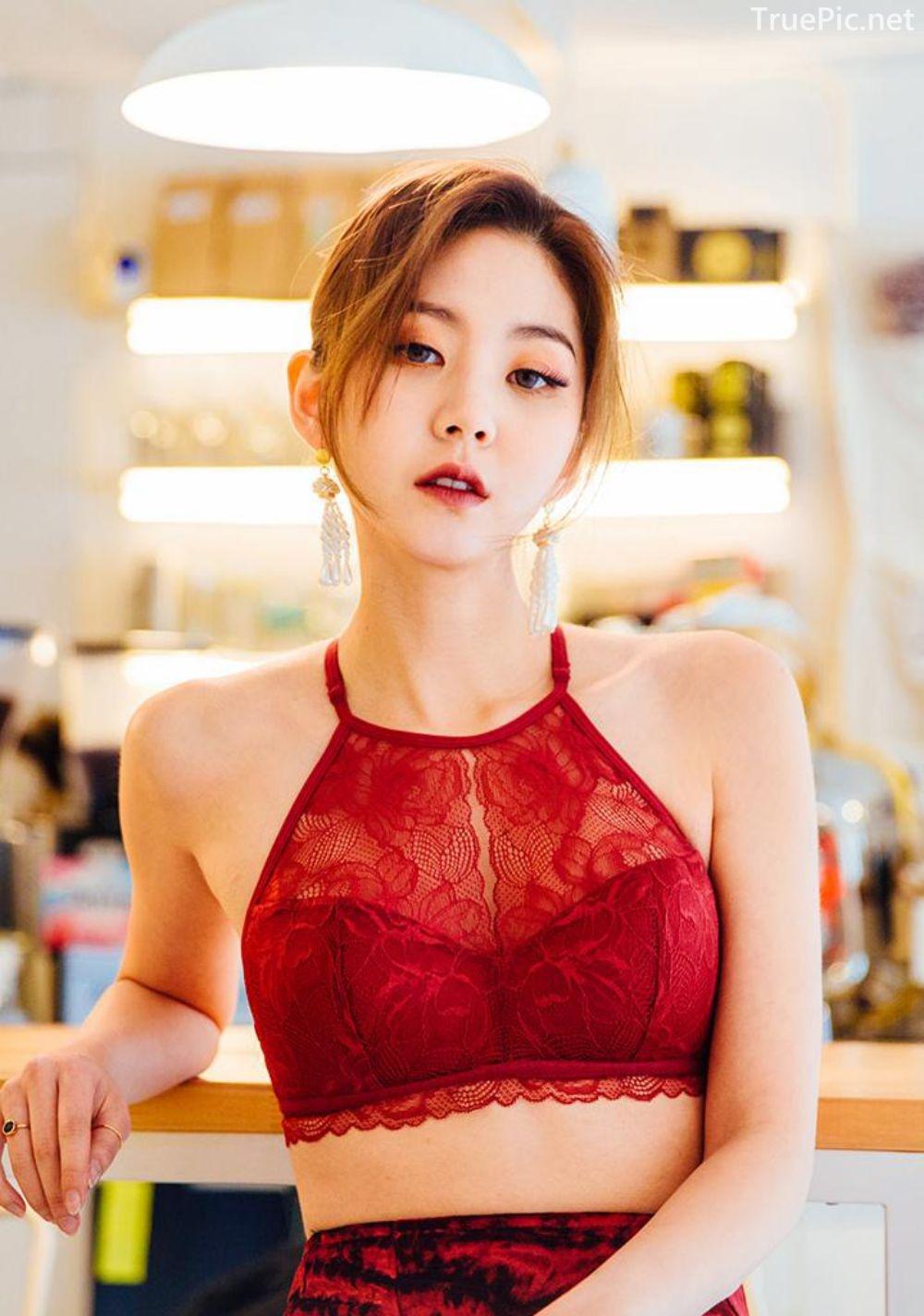 Korean Lingerie Queen - Lee Chae Eun - Red and Black Rabbit Lingerie - TruePic.net - Picture 1