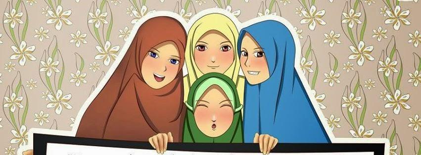 Gambar Top Gambar Kartun Muslimah Berempat Sapawarga
