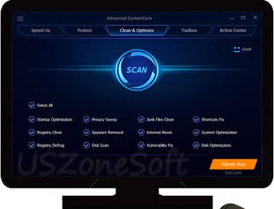 Advanced System Care internet speed- PC speed booster, temporary internet files cleaner, clean and reapir system registry key, disk optimization, privacy protector, browser cookies or history cleaner software download