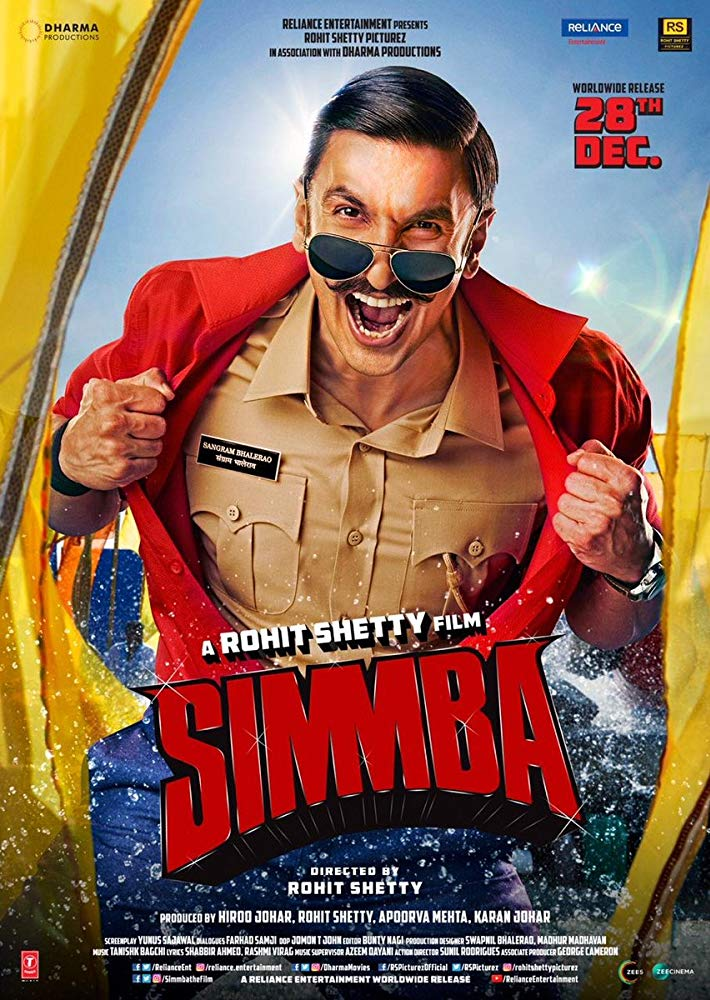 Simmba 2018 Hindi 600MB HDRip 720p HEVC x265 ESubs Free Download