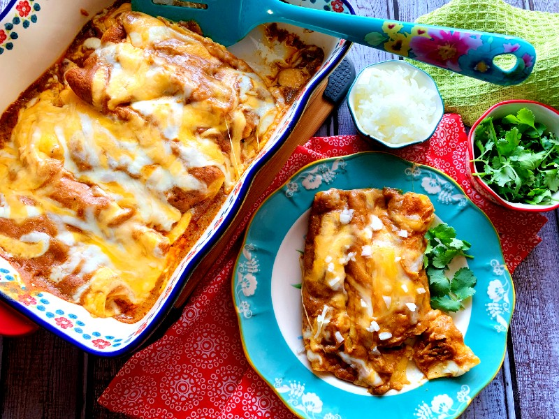 Cheese Enchilada with Tex-Mex Chili Gravy