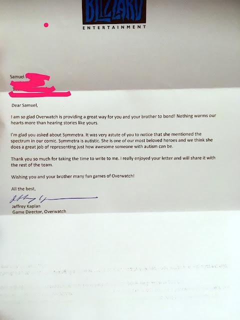 blizzard overwatch letter
