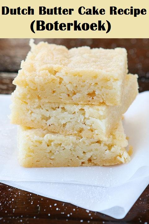 Dutch Butter Cake Recipe (Boterkoek)