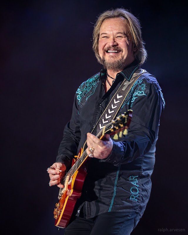 Travis Tritt performing at the Whitewater Amphitheater in New Braunfels, Texas