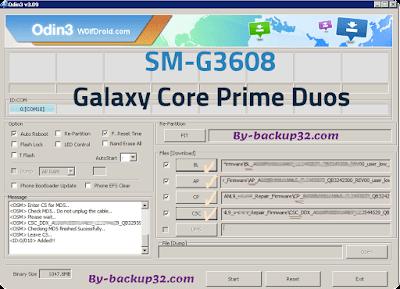سوفت وير هاتف Galaxy Core Prime Duos موديل SM-G3608 روم الاصلاح 4 ملفات تحميل مباشر