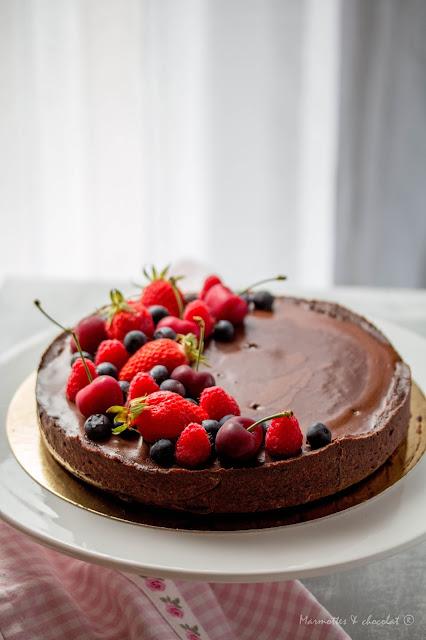 Много шоколадова тарта / Tarte très chocolat
