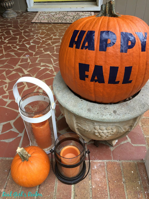 Make a decorative No-Carve pumpkin using your Cricut