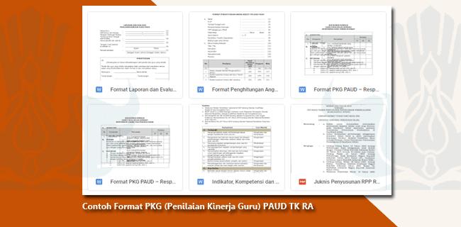 Contoh Format PKG (Penilaian Kinerja Guru) PAUD TK RA