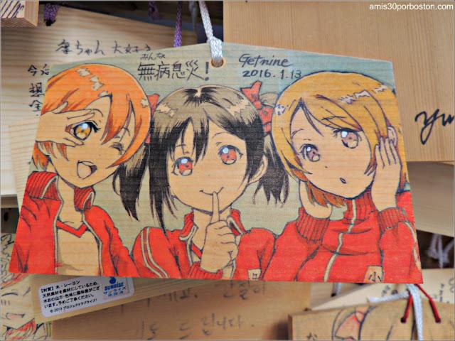 Tablilla Ema del Santuario Kanda Myojin en Tokio