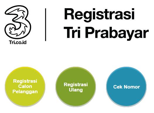 Cara Registrasi Kartu Telkomsel simPATI AS XL Tri Axis Indosat Smartfren