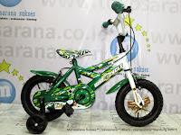 Sepeda Anak Wimcycle Bazooka BMX 12 Inci Army Green