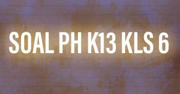 Soal PH K13 Kelas 6 Tema 1 Sub Tema 1 Tumbuhan Sumber Kehidupan