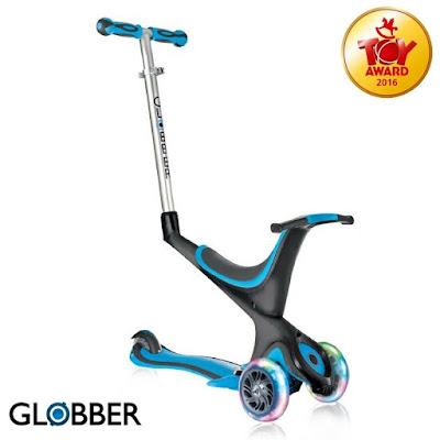 Globber哥輪步酷炫發光輪兒童5合1三輪滑板車