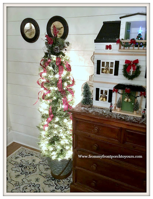 Christmas-Foyer-Farmhouse-Cottage-Shiplap-Christmas Tree-From My Front Porch To Yours