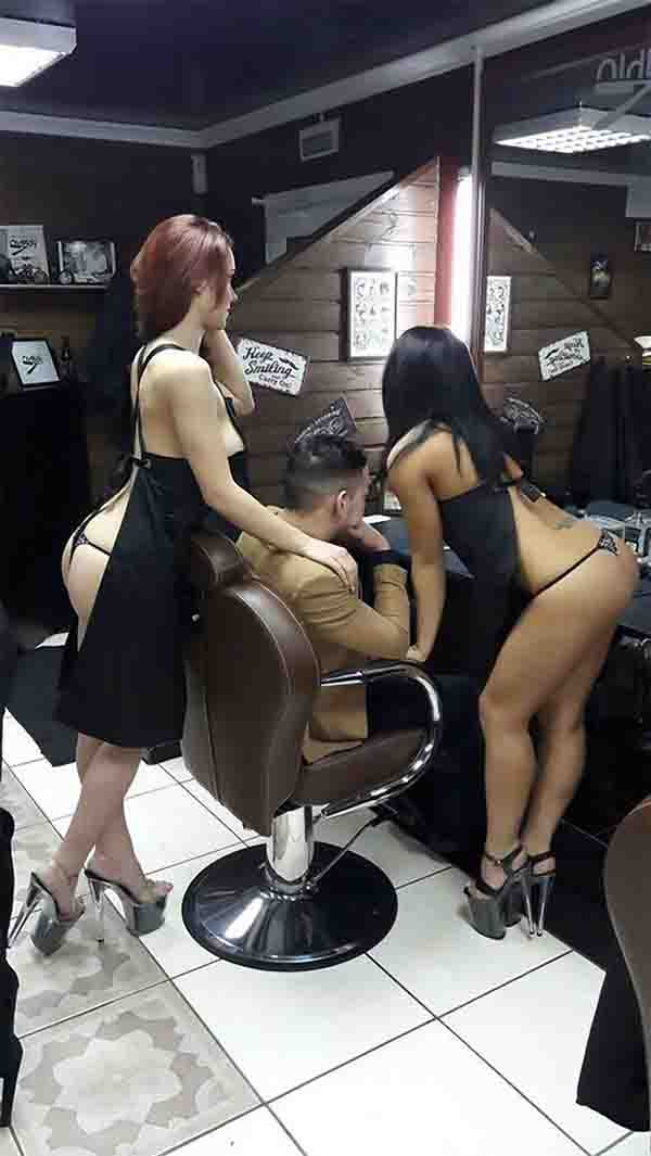 MUST SEE: This Barbershop Had Half-Naked Girls Cut Their Customers' Hair