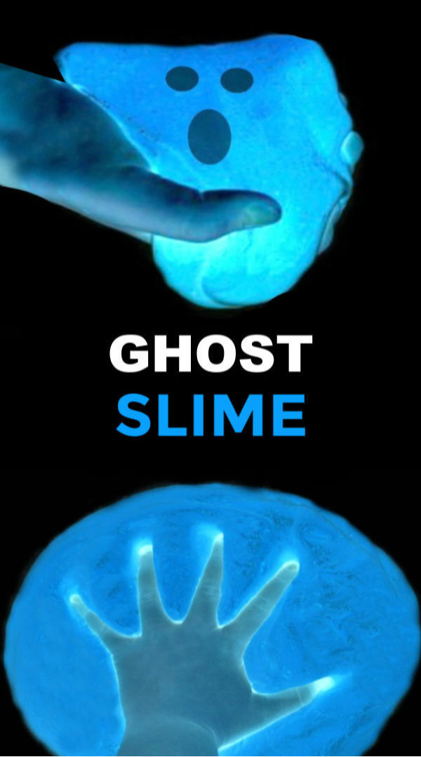 Wow the family this Halloween and make icy-cold ghost slime.  The recipe is easy and kids of all ages are sure to love this fun bit of science. #ghostslime #ghostslimerecipe #halloweenslime #halloweenslimeforkids #slimerecipe #slimerecipeeasy #halloweencrafts #ghostcraftsforkids #growingajeweledrose #activitiesforkids