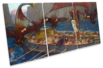 John William Waterhouse Ulysse et les sirènes Toile Wall Art