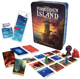 Componentes del juego de tablero Forbidden Island
