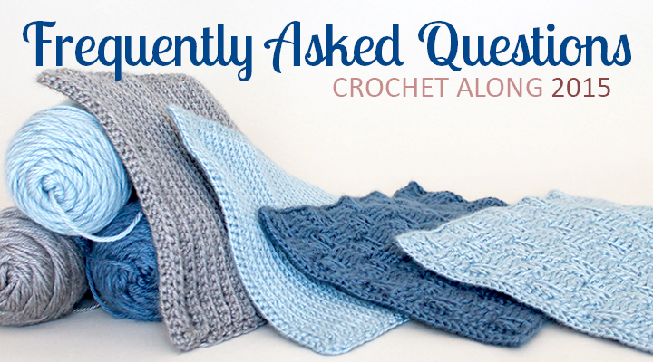 Frequently Asked Questions for the 2015 Crochet Along Afghan Sampler on The Inspired Wren